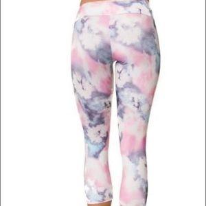 ONZIE Summer Tie Dye Leggings Size M/L Pink Blue